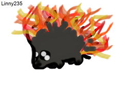RQ 4- Flaming Porcupine by Linny235