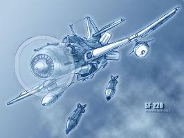 SF-228 in flight by TheXHS