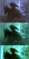 Speed painting stages by Viviphyd