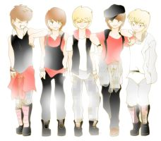 SHINee Japanese by Pulimcartoon