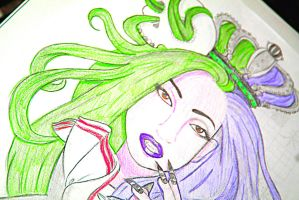 Lady Gaga, Helen Green redraw 3 by Gothchick1995