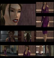 Purple Evening Dress by XTombRaiderxx