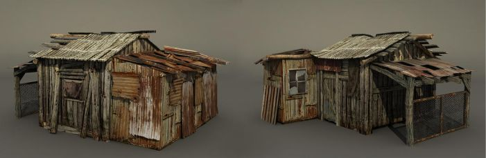 Old shack by Roomper