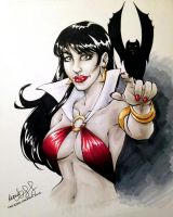 Fan Expo 2012 Vampirella marker sketch by mechangel2002