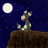 Umbreon at night by SpitfiresOnIce