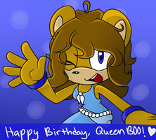 Happy birthday, QueenB00! by WightShadoo
