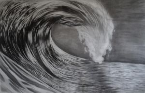 Wave Drawing by emkv
