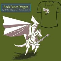 Rock Paper Dragon by ShadedAreasArt