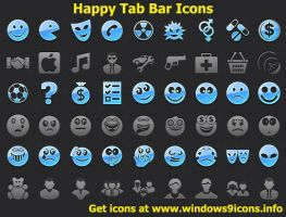 Happy Tab Bar Icons by shockvideoee