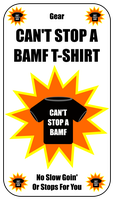 Can't Stop a BAMF T-Shirt Card For Zombie Run Game by flowofwoe