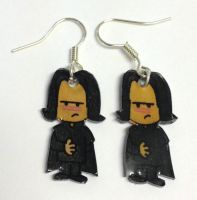 Kawaii Snape earrings by Lovelyruthie