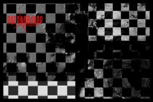 Grunge Checkers Brush Set by anodyne-stock