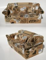 Cardboard Couch by Naerko