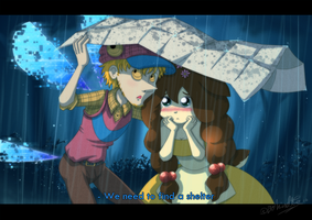HPM - Caught by Rain by TamarinFrog