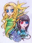 Lilies and Roses by IChiTa--WiYa