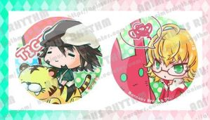 Tiger n Bunny Button set by yueta