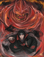 Eyes of the Uchiha by bulletproofturtleman