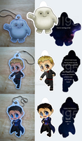 Doctor Who keychains (update) by Momiji95