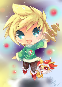 Chibi Dereku holiday by LittleOcean