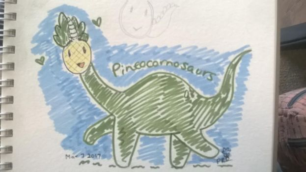 Pineocornosaurs by PineapplesAreReal