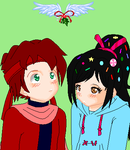 Wreck It Ralph - Mistletoe for Cato and Vanellope by dannichangirl