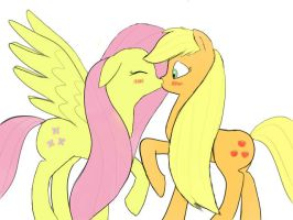 AppleShy Kiss by zora-artist
