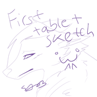 First TABLET sketch by ShirraPikachu