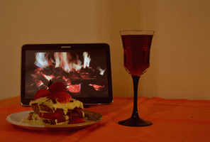 A lonely valentines day by the fire by Orkekum