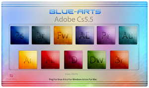 Blue-Arts Adobe Cs5.5 Icons by Blue-Arts