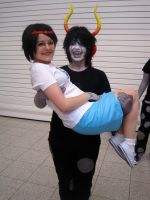 MCM Oct '12 - Jane and Gamzee by Cubie-Panda