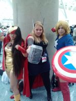 Anime expo 2013 Avengers girls by emogothgurl