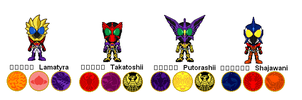 Kamen rider OOO: My combinations by Dell-AD-productions