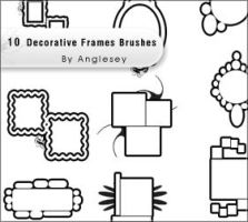 Decorative Frames Brushes by anglesey