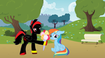 Shadow Dash Asks Rainbow Dash Out by CyrilSmith