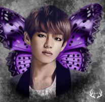 Butterfly Taehyung by Yunhosbambi