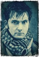 david tennant doctor who poster version by ricardo-bruins