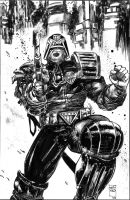 Judge Dredd from 2000 AD by FrancescoIaquinta