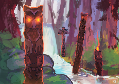 Eyes of the Forest by fivetinsoldiers