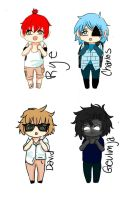 some more of meh ocs by FrozenPearlQWQ