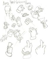Amy Hand Reference Sheet by Gimp-artist
