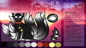 Phantom Belle - Fursona Character Sheet by Midnyte-Wolff