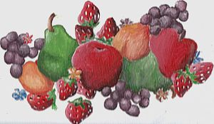 Fruit Painting by Dragringa