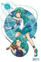 Michiru Kaiou alias Sailor Neptune by TheBourgyman