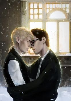 Harry Potter: Christmas Drarry by LittleChmura