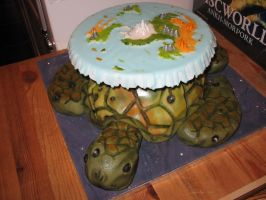 Discworld Cake Great A'Tuin by Kelzky