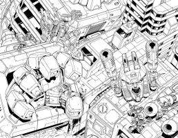 Metroplex cover inks by MarceloMatere