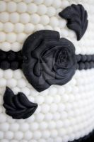 Navy Blue Rose Deco by theSugarmonger
