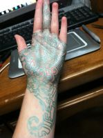 Full frontal view of hand by Wintaria