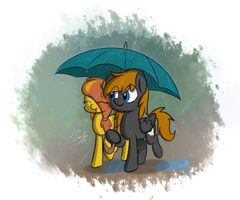 2 Lovebirds And 1 Umbrella by SoulfulMirror