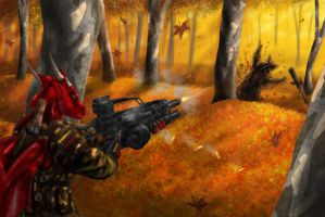 Autumn warfare by Max-Dragon